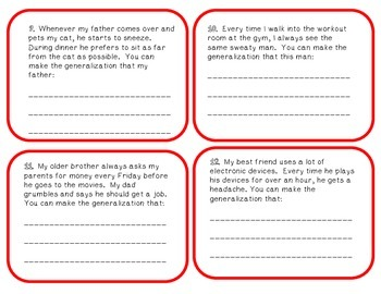 Leveled Generalization Task Cards