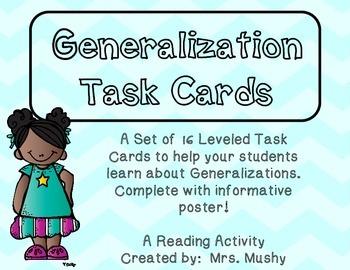 Leveled Generalization Task Cards