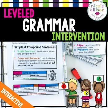 leveled grammar intervention by nicole allison tpt