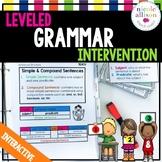 Leveled Intervention for Grammar