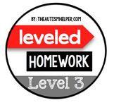 Leveled Homework {Level 3}