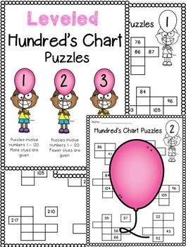 Leveled Hundreds Chart Puzzles!