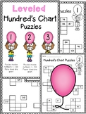Leveled Hundreds Chart Puzzles!