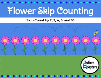Leveled Interactive Flower Skip Counting Adapted Math Activity