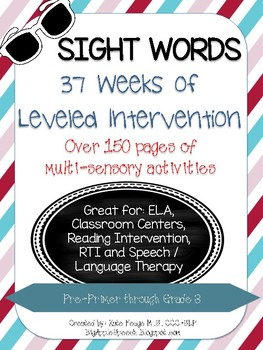 Leveled Interactive Reading Intervention Bundle:Dolch Sight Words (CCSS)
