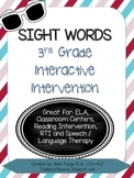 Leveled Interactive Reading Intervention: Grade 3 Dolch Sight Words CCSS)(