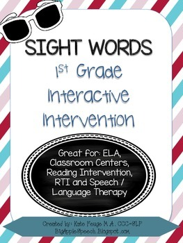 Leveled Interactive Reading Intervention: Grade 1 Dolch Sight Words (CCSS)