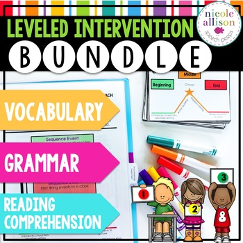Leveled Intervention Bundle for Reading Comprehension, Grammar, and Vocabulary
