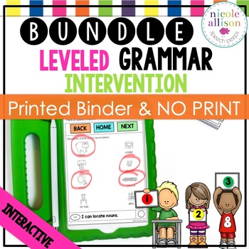 Leveled Intervention for Grammar (Printed and No Print) Bundle