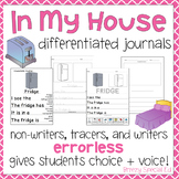 Leveled Journal Writing for Special Education - Household Items