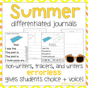 Leveled Journal Writing for Special Education - Summer Time