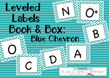 Leveled Labels - Boxes & Books Blue Chevron