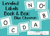 Leveled Labels - Boxes & Books Blue Chevron