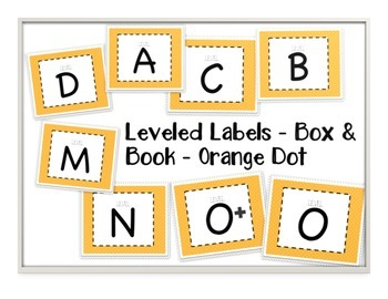 Leveled Labels - Boxes & Books Orange Dot