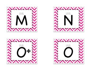 Leveled Labels - Boxes & Books Pink Chevron