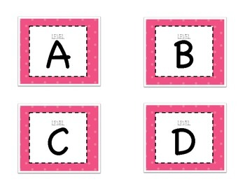 Leveled Labels - Boxes & Books Pink Dot