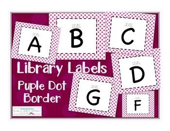 Leveled Labels - Boxes & Books Purple Dot