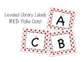 Leveled Labels - Boxes & Books Red Dot