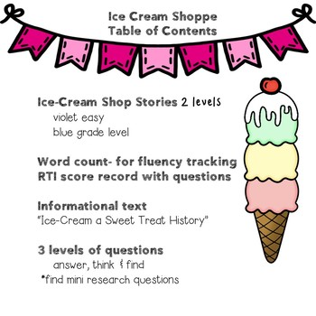 2nd RSP SDC Leveled Lessons Ice-cream Unit differentiated for your ease