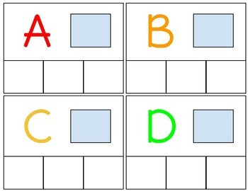 Leveled Letter and Letter Sound Interactive Task Cards