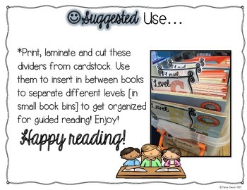 Leveled Library Book Dividers