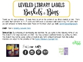 Leveled Library Basket Lables