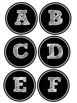 Leveled Library Book Basket Labels {Chalkboard Style / Black and White}