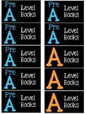 Leveled Library Book Box Labels