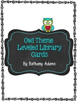 Leveled Library Cards - Lexile