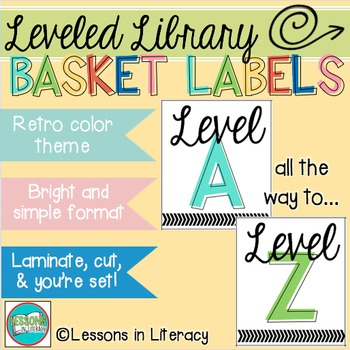 Leveled Library Labels {Retro Edition}