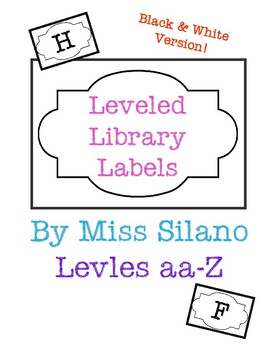 Leveled Library Labels (Black and White)