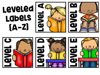 Leveled Library Labels {A-Z}