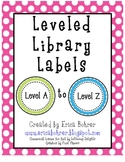 Leveled Library Labels: A through Z