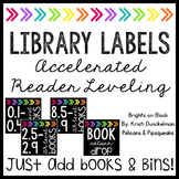 **EDITABLE** Leveled Library Labels (Accelerated Reader-AR