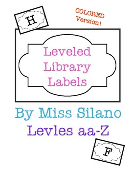 Leveled Library Labels (Colored)