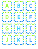 Leveled Library Labels - Green and Blue Theme
