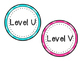 Leveled Library Labels Polka Dot Theme