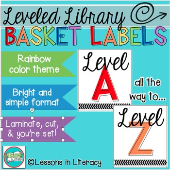 Leveled Library Labels {Rainbow Edition}