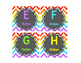 Leveled Library Labels Rainbow chevron & chalkboard