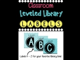 Leveled Library Labels - Turquoise