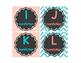 Leveled Library Labels chalkboard teal & salmon