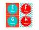 Leveled Library Labels red, white & teal