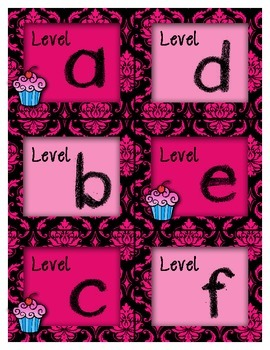 Leveled Library Labels with Cupcakes