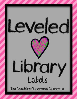 Leveled Library Labels with Hearts