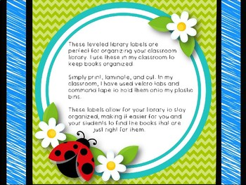 Leveled Library: Ladybugs and Bumble Bees