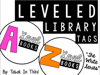 Leveled Library Tags (White)