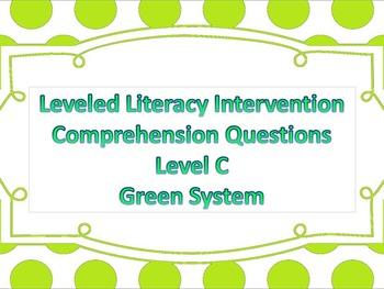 LLI Multiple Choice Comprehension Assessment Level C Green System