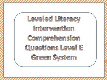Sample LLI Multiple Choice Comprehension Assessment Level