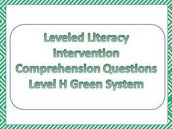 LLI Multiple Choice Comprehension Assessment Level H Green System Sample