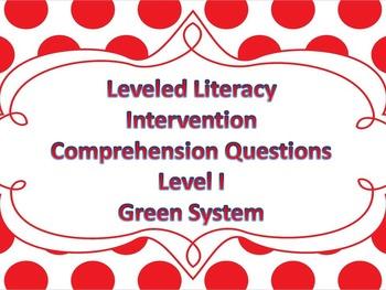 LLI Multiple Choice Comprehension Assessment Level I Green System